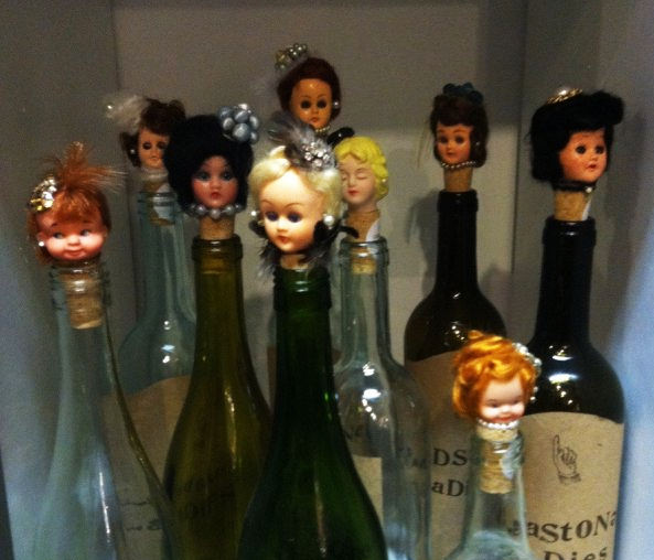 Doll Head Wine Stopper
